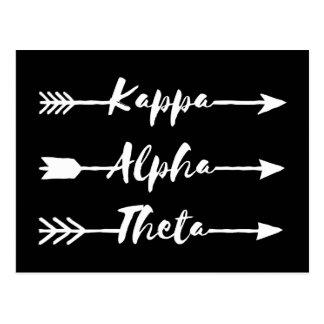 Pfeile des Kappa-Alpha Theta-| Postkarte