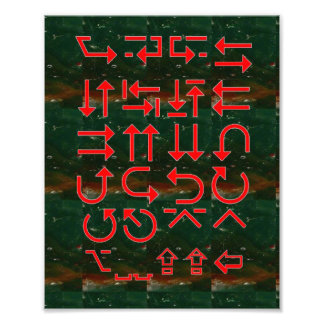 PFEILE Karten-Richtungs-Gehirn-Kreuzungen OpenMind Fotodrucke