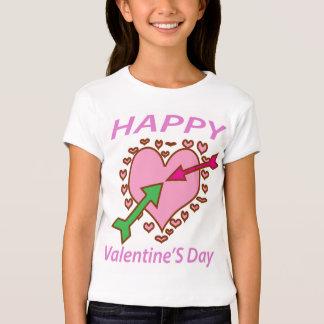 Pfeilspaß des Valentinstag-Geschenk-romantischer T-shirt