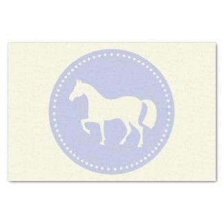 "Pferd 10"""" x15 Seidenpapier (blaues &creme)"