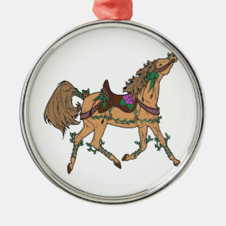 Pferd 2 silbernes ornament