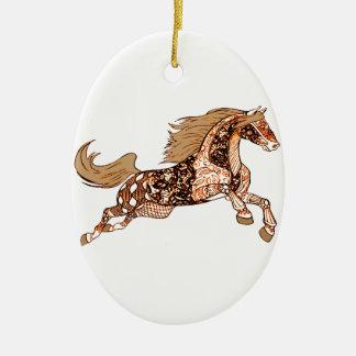 Pferd 3 keramik ornament