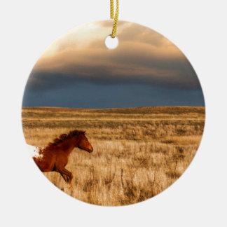 Pferd allein keramik ornament