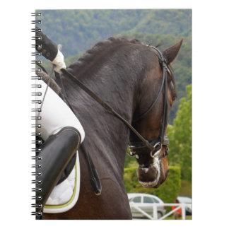 Pferd am Errichten Notizblock