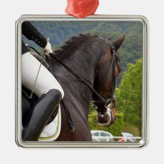 Pferd am Errichten Silbernes Ornament