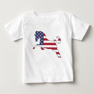 "Pferd ""amerikanische Flagge "" Baby T-shirt"