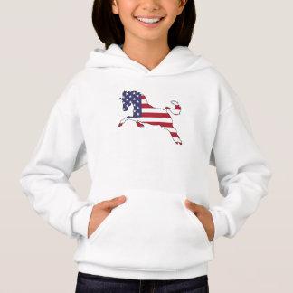 """Pferd """"amerikanische Flagge """" Hoodie"""