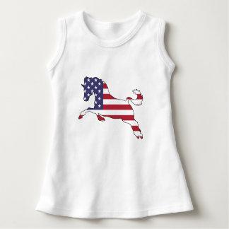 "Pferd ""amerikanische Flagge "" Kleid"