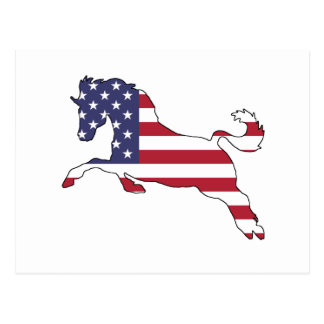 "Pferd ""amerikanische Flagge "" Postkarte"