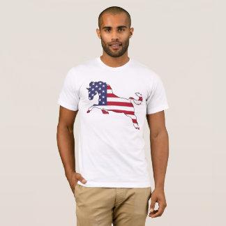 "Pferd ""amerikanische Flagge "" T-Shirt"