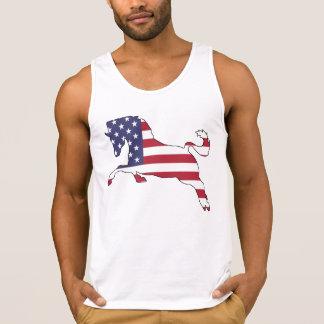 """Pferd """"amerikanische Flagge """" Tank Top"""