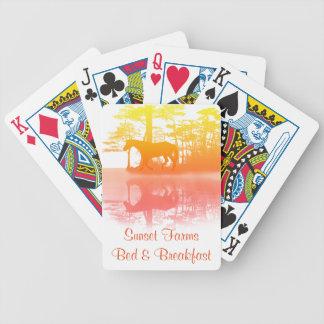 Pferd an der Dämmerung Bicycle Spielkarten