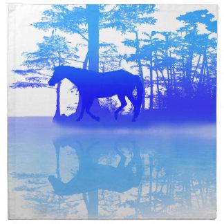 Pferd an der Dämmerung Stoffserviette