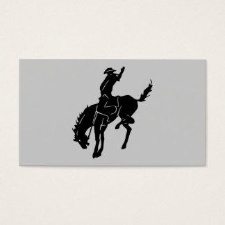Pferd an der Rodeo-Visitenkarte Visitenkarten