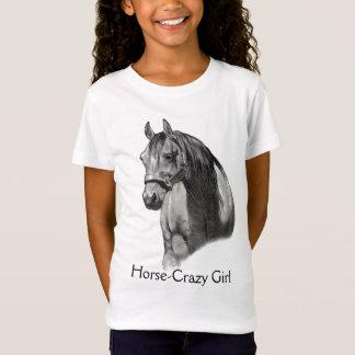 PFERD: BLEISTIFT: HORSE-CRAZY: MÄDCHEN T-Shirt
