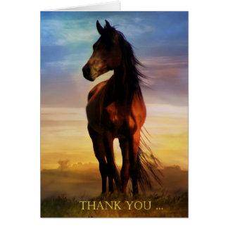 Pferd danken Ihnen Anmerkungs-Karte Karte