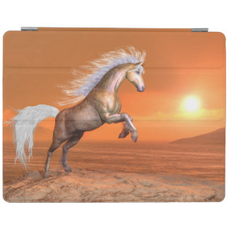 Pferd, das durch Sonnenuntergang aufrichtet - 3D iPad Hülle