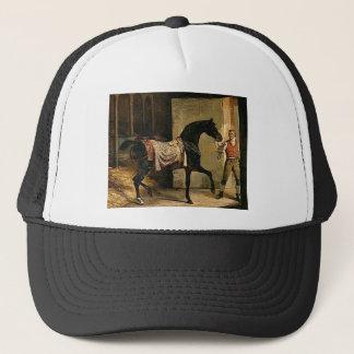 Pferd, das einen Stall durch Theodore Gericault Truckerkappe
