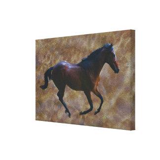 Pferd, das frei läuft leinwanddruck