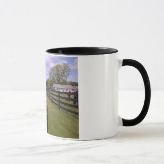 Pferd, das heraus seine Zunge-Tasse haftet Tasse
