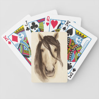 Pferd der Aquarell-Scheunen-Tier-  Bicycle Spielkarten