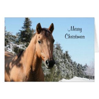 Pferd der frohen Weihnachten Karte