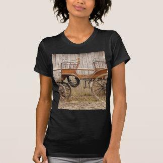 Pferd gezeichnete Wagen-Zug-Surrey-Geschenke T-Shirt
