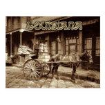 Pferd gezeichneter Milchwagen, New Orleans, Louisi Postkarte
