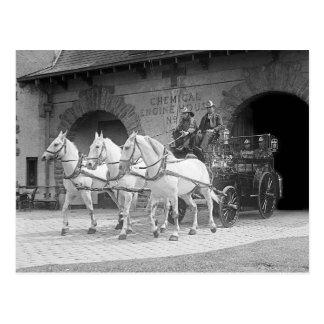 Pferd-Gezeichnetes Feuer Engine, 1922 Postkarten