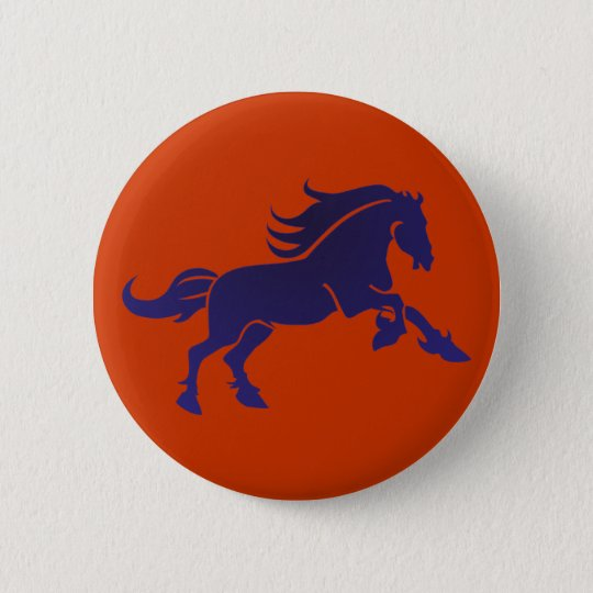 Pferd horse runder button 5,1 cm