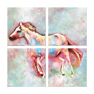Pferd im Aquarell Leinwanddruck