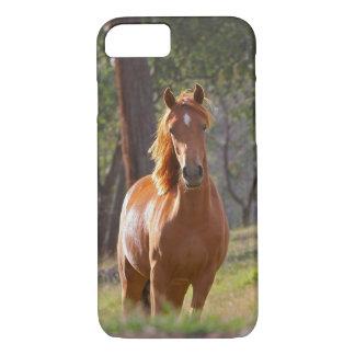 Pferd im Holz iPhone 8/7 Hülle