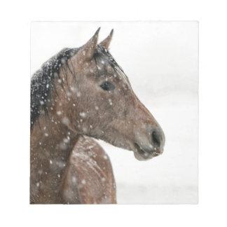 Pferd im Schnee Notizblock