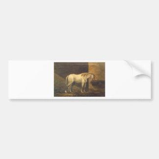 Pferd in der Scheune durch Gheorghe Tattarescu Autoaufkleber