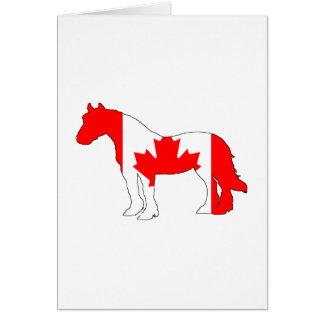 Pferd Kanada Karte