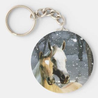 Pferd Keychain Standard Runder Schlüsselanhänger