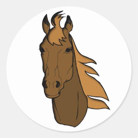 Pferd Kopf horse head Runder Aufkleber