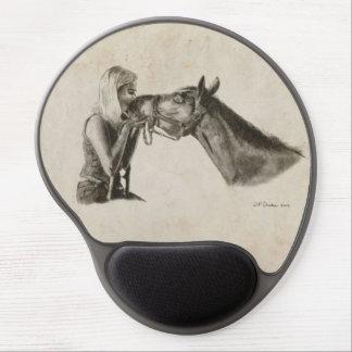 Pferd küsst Grafik Gel Mousepad
