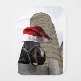Pferd mit Weihnachtsmannmütze Spucktuch