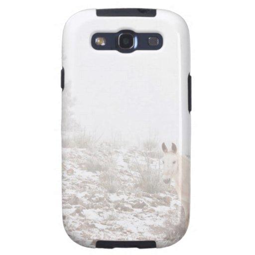 Pferd mit Winter-Jahreszeit-Schnee und Nebel Samsung Galaxy SIII Hüllen
