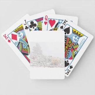 Pferd mit Winter-Jahreszeit-Schnee und Nebel Poker Karten