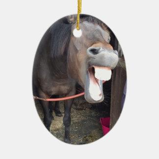 Pferd Ovales Keramik Ornament