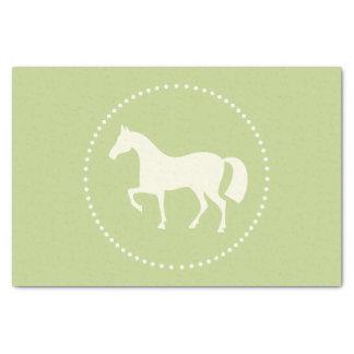 """Pferd/Pony 10"""" x 15"""" GeschenkSeidenpapier (Grün) Seidenpapier"""