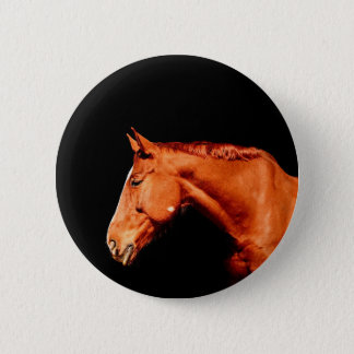 Pferd Runder Button 5,1 Cm