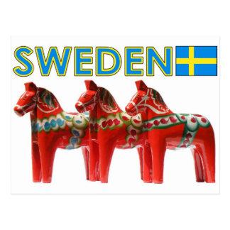 Pferd Schwedens Dala Postkarte