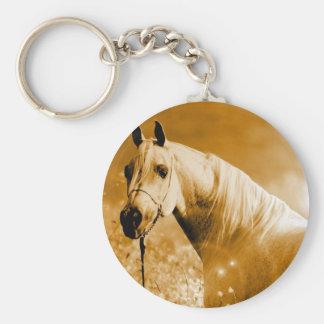 Pferd Standard Runder Schlüsselanhänger