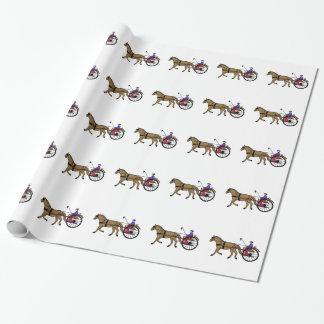 Pferd und Buggy Geschenkpapier