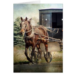 Pferd und Buggy in ländlichem Iowa Karte