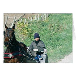 Pferd und Buggy Karte