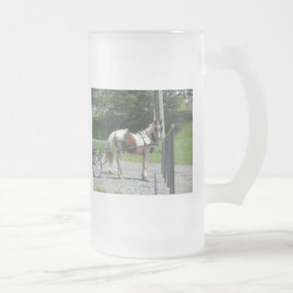 Pferd und Buggy Matte Glastasse